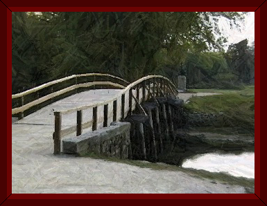 Old North Bridge at Concord, MA ~ by John W. Uhler ~ © Page Makers, LLC